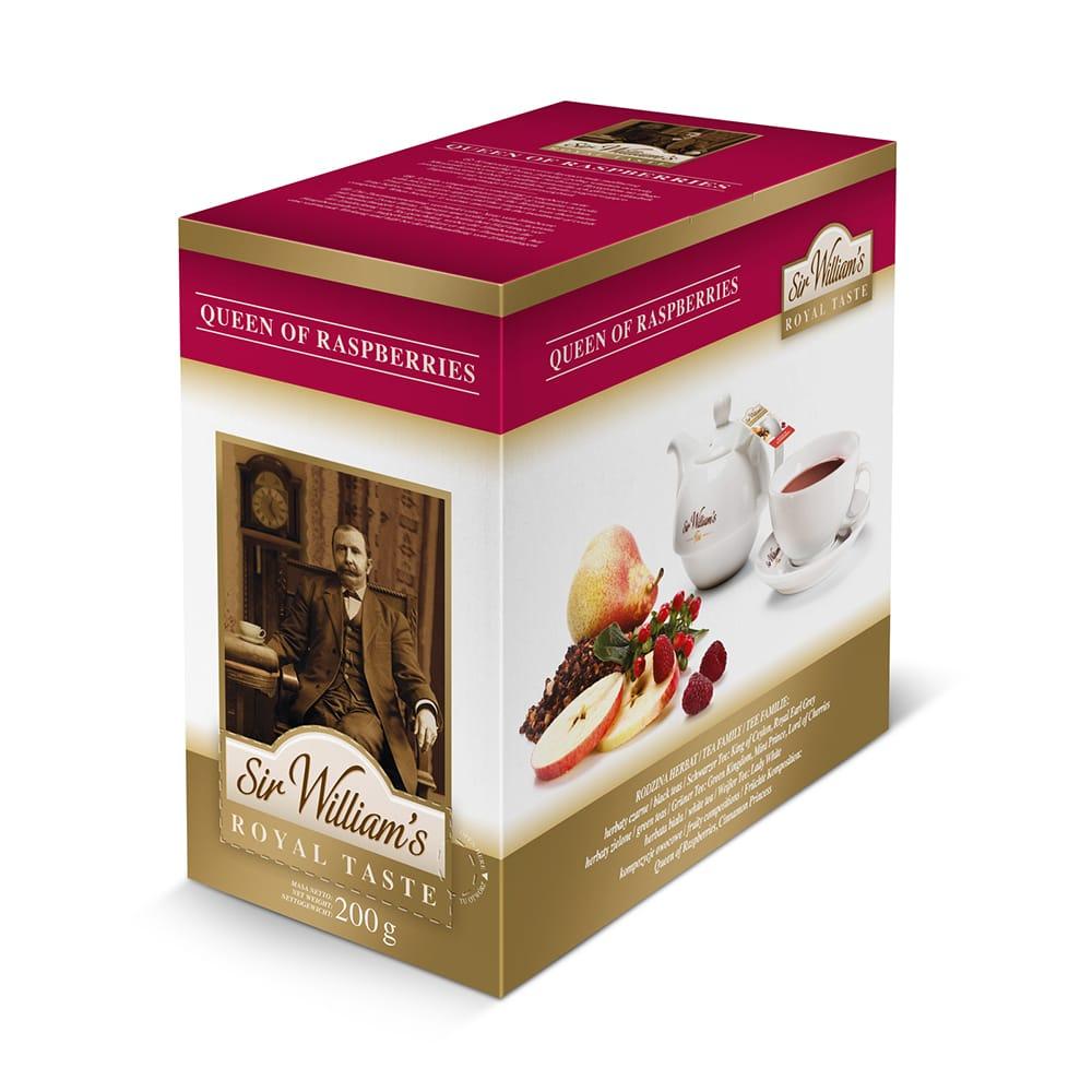 Herbata Sir William's ROYAL TASTE – QUEEN OF RASPBERRIES