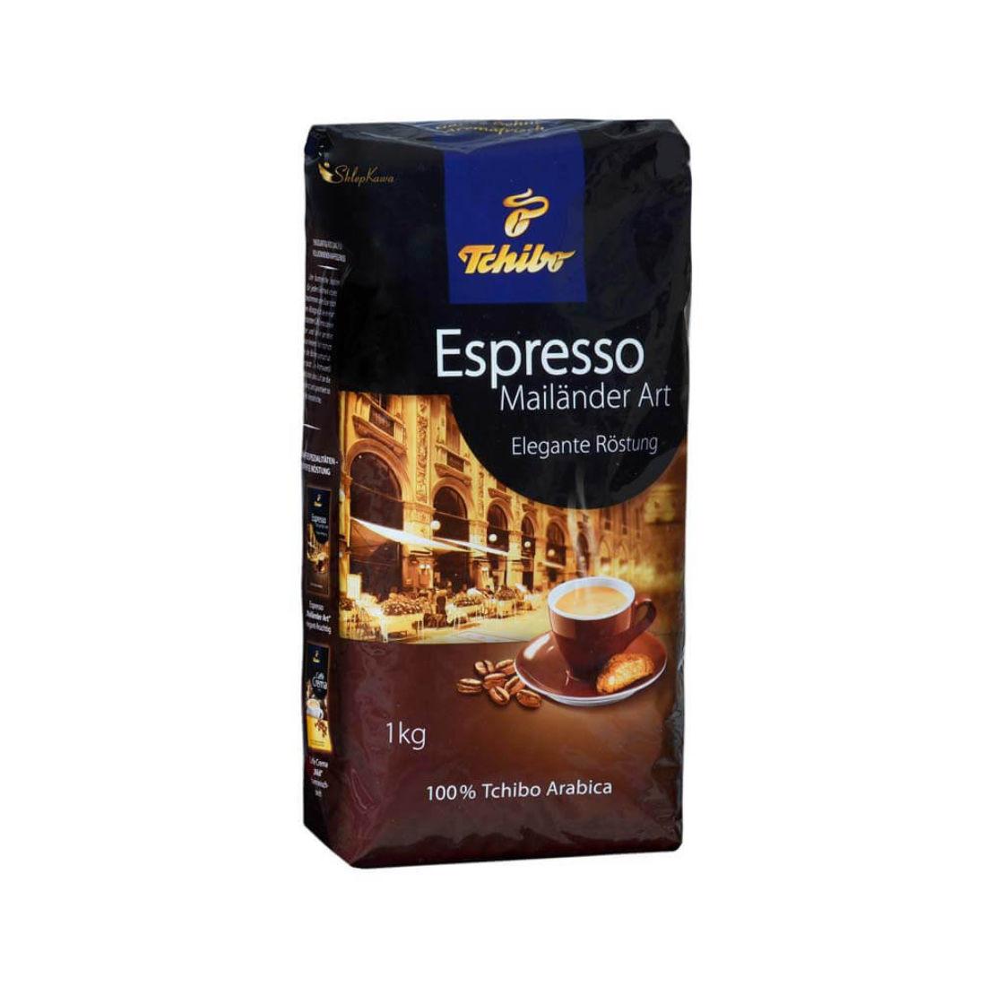 kawa ziarnista Tchibo Espresso Mailander Art